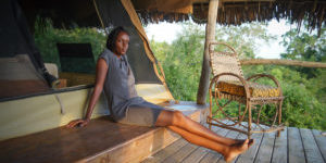 Single safari tent with a view to Gongo forest